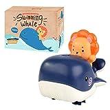 Ardorman Badespielzeug,Whale Spray Krabbelspielzeug Baby Amphibienwasser Und Land Spielen Wal Löwe Badewasserspray Schwimmen Uhrwerk Spielzeug,7.5x11x9.5cm
