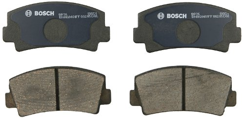 Bosch BP76 QuietCast Premium Semi-Metallic Disc Brake Pad Set For Select Ford Courier; Mazda 616, 618, B1600, B1800, B2000, Rotary Pickup, RX-2, RX-4, RX-7 + More; Front