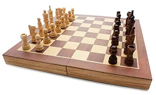 Jogo de Xadrez Gamão e Dama em Madeira 29x29 3015