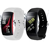 Rukoy Courroie de Montre Intelligente pour Samsung Gear Fit2/Gear Fit 2 Pro [Lot de...