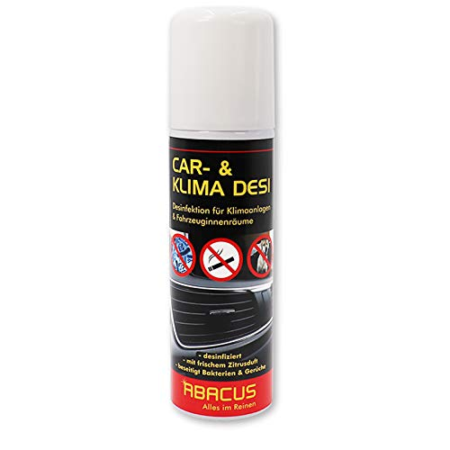 ABACUS CAR DESI 200 ml (3109) -Klimareiniger Klimaanlagenreiniger Klimadesinfektion Klimaanlagendesinfektion Klima Anlagen Reiniger Desinfektion-Air Conditioner AC-Cleaner