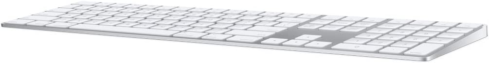 Apple Magic Keyboard with Numeric Keypad (Wireless, Rechargable) (Danish) - Silver