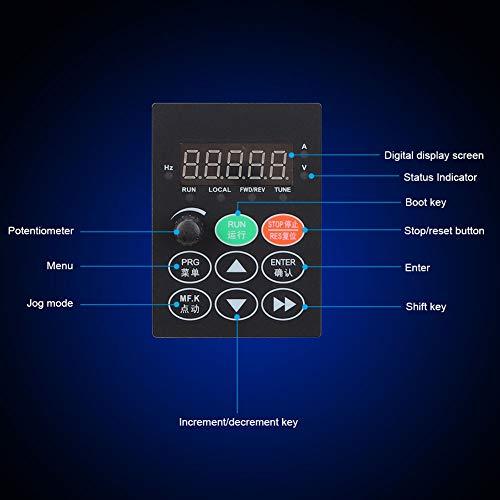 Inversor de accionamiento de frecuencia de 2,2 kW, inversor de accionamiento de frecuencia, multifunción intuitiva para la configuración digital de la industria