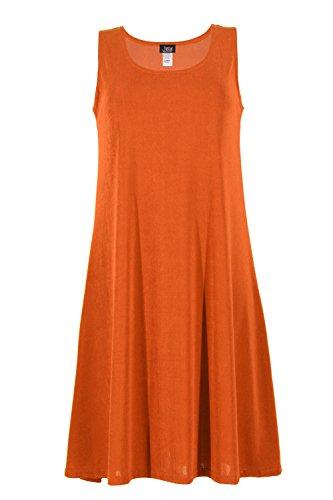 Jostar Women's Stretchy Short Tank Dress Large Rust