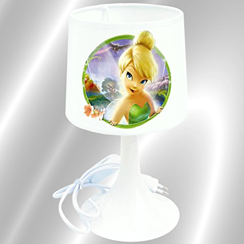 Lampe de chevet de création - Lampe à poser enfant -Fée Clochette