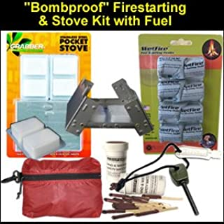 ''Bomb-Proof'' Survival Fire Starting & Stove Kit with Fuel & Tinder