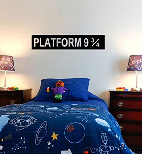 Gepersonaliseerde vinyl muursticker platform 9 3/4 Potter kinderen muursticker sticker 20 * 120