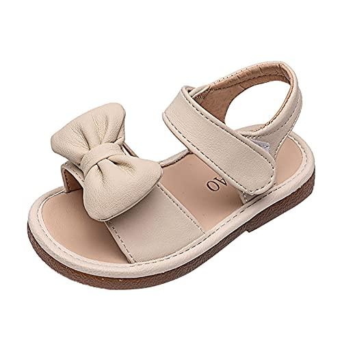 YWLINK Sandalias NiñA Verano Zapatos ReciéN Nacido Plano Casual Comodas,Zapatos De Princesa Con Lazo De Suela Suave Antideslizante Para NiñOs Zapatos De ActuacióN De Escenario Zapatos Individu