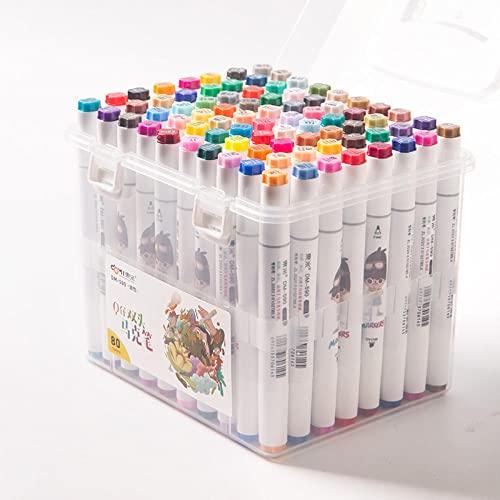 Nouveau 590 Pintura de Marca en Doble tête 60 Colores 80 jeu de Couleurs marqueur pour Enfants étudiants-80 Colores