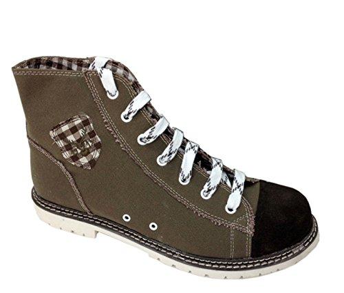 Spieth & Wensky Trachten Herren Sneaker - Jack - braun/ruß/d-braun, Größe 39
