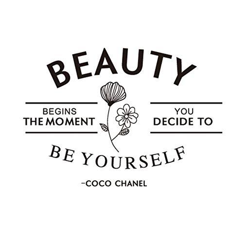 SUPERSTICKI Beauty Begs The Moment Coco Chanel 20cm sticker, autostickers, stickers, decal, muurtattoo, van high-performance folie, UV- en wasstraatbestendig,