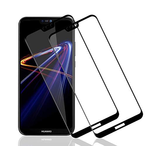 POOPHUNS Vetro Huawei P20 Lite [2 Pezzi] Pellicola Protettiva in Vetro Temperato per Huawei P20 Lite, Anti-Graffi, 9H Durezza, Senza Bolle, HD Alta Trasparenza Protezione Schermo