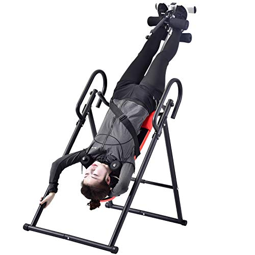 ZYQZYQ Heavy Duty Handstand Machine Gravity Inversion Table Foldable Ergonomic Exercise Table Home Gym Body Sculpture Fitness Equipment,A