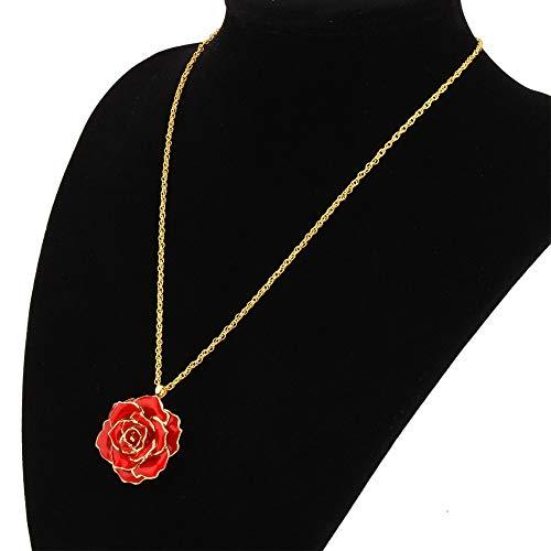 Jopwkuin Collar Colgante Embalaje de Regalo de cortesía Los Mejores Regalos Collar Dorado para Fiesta de Baile para Novia, Madre, Esposa