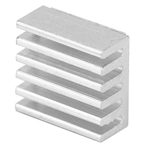 Disipador de calor de aluminio, enfriador de aluminio plateado de 100 piezas, práctico para el módulo Mos de fuente de alimentación