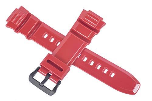 Cinturino originale Casio per orologio W-S220C-4AV W S220C S220 ROSSO