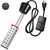 GDDP 1500W Immersion Heater, UL-Listed Portable Water Heater with Stainless-Steel Guard, Smart...