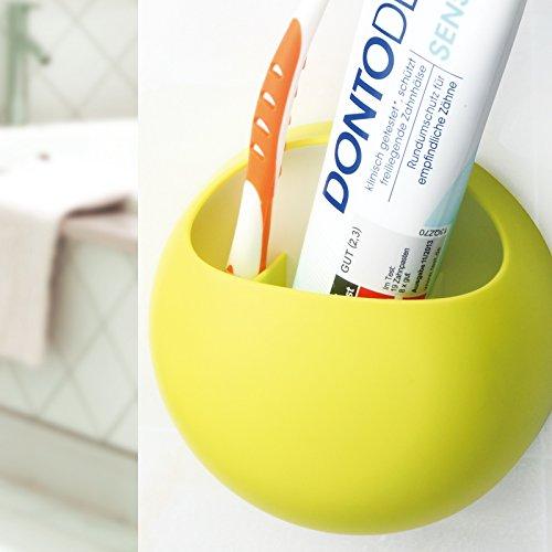 Mural porte-verre/brosse à dents/Creative ventouse avec dents vert