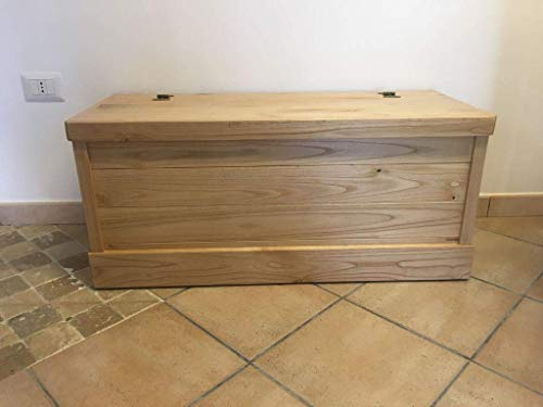 Cassapanca in legno castagno 60x40x40H