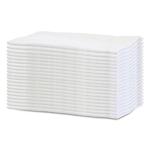"""""""軽くて 乾きやすい"""" 綿 100% 白い フェイス タオル 20枚組 業務用 160匁(34×80cm)"""