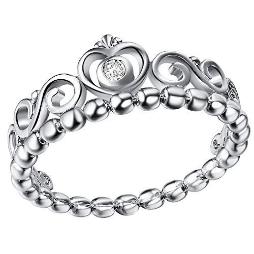 HINK Love Crown Ladies Ring Joyería Fina Anillo de Cobre Tamaño de la joyería 6-10 Joyas y Relojes Anillos