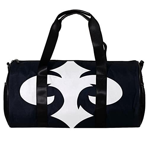 Bolsa de deporte redonda con correa de hombro desmontable Iconos nómada bolso de entrenamiento para mujeres y hombres
