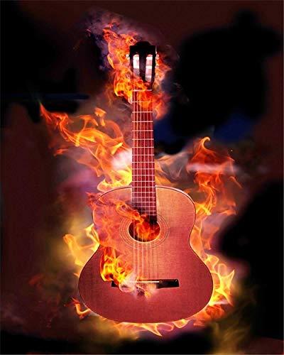 YWOHP Guitarra Lienzo Arte de la Pared Pintura Nordic Cool Posters e Impresiones Moda Decoración del hogar Decoración de la Sala Imagen de la Pared 60x90cm Sin Marco