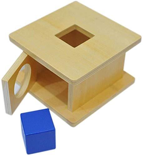 ZHJ Clasificador de Forma de Madera Emparejamiento Niño Sólido Bloque Geométrico Sólido Desarrollo Clásico Educación Early Toys Regalo de Preescolar Juguetes para Primera Infancia (Color : Cube)