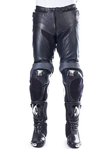 BELO LUCCA dameslederen broek zwart/wit 40 56 EU zwart/wit
