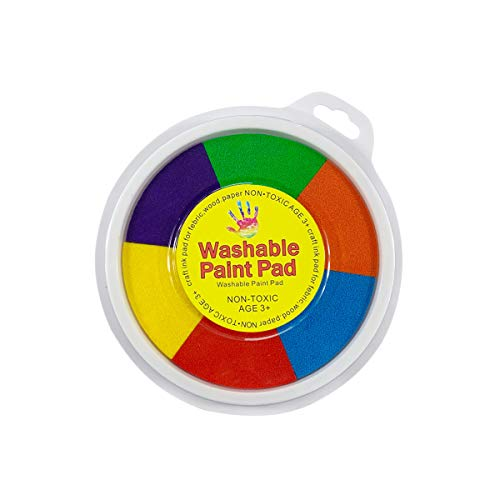Tampone di inchiostro 1 Pz 6 Colori Rotondo DIY Craft Accessori per Bambini Baby Safety Timbri di Gomma
