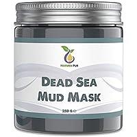NATURA PUR Mascarilla Facial de Barro del Mar Muerto 250g - Para Acné, Puntos Negros y Espinillas - Cuidado Antienvejecimiento para Pieles Secas y con Impurezas