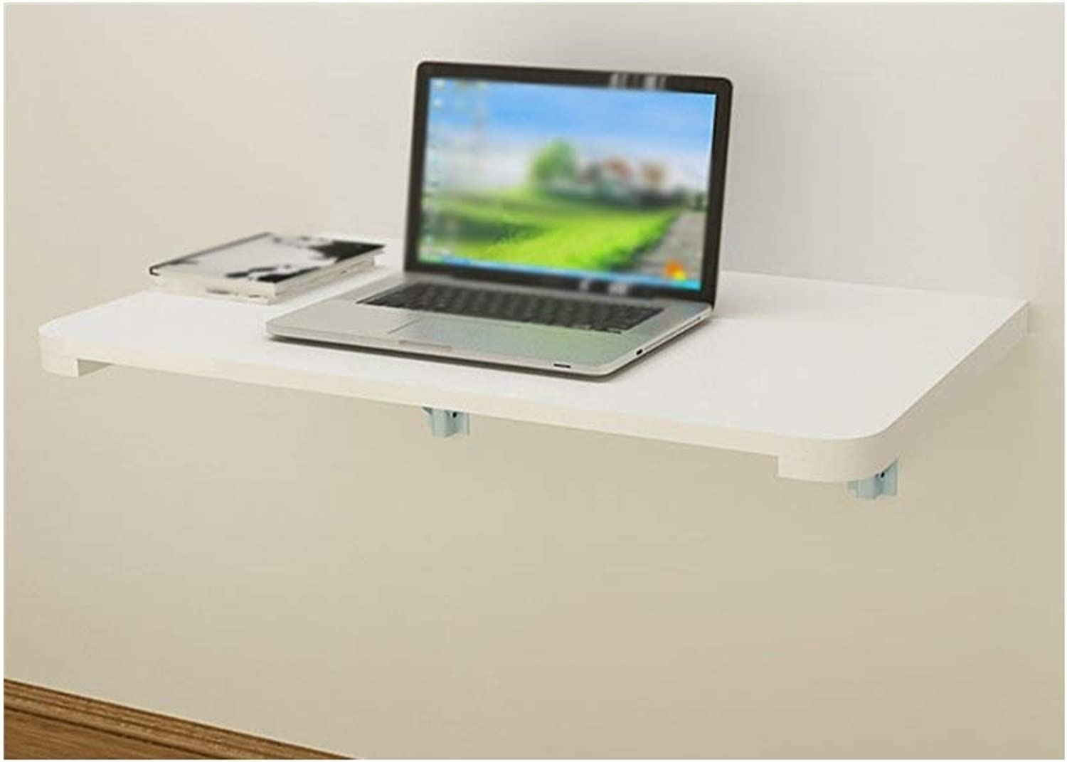 LQQFFCreative Table Wall-Mounted Desk Computer Desk, Solid Wood Folding Table, Easy Learning Desk, (color   A, Size   60  40cm)