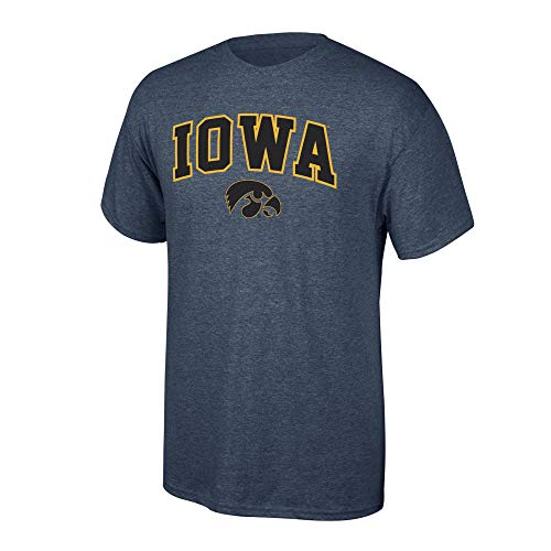Elite Fan Shop Iowa Hawkeyes Men's T Shirt Dark Heather Arch, Large