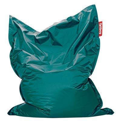 Fatboy Original | Grote Zitzak | Onverwoestbare Nylon Zitzakken | Hoge Kwaliteit EPS-vulling | Turquoise | 180 x 140 x 35 centimeter