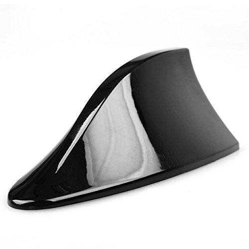 Black Car SUV Shark Fin Roof Mount FM/AM Radio Signal Antenna Aerial Universal Fit