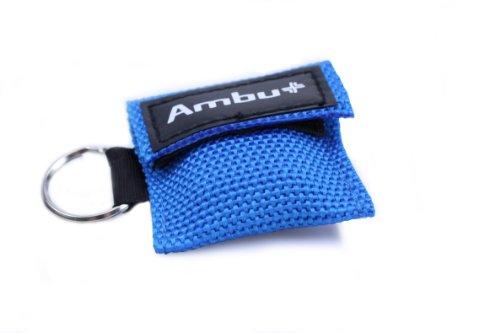 Ambu LifeKey Notfallbeatmungstuch blau - Nylon-Softcase-Schluesselanh.