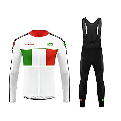 Uglyfrog Bike Wear Vestiti Ciclismo Magliette Jersey+Long Bib Pantaloni Tight Body Sets Uomo Winter Fleece Mountain Bike Manica Corta Camicia Top