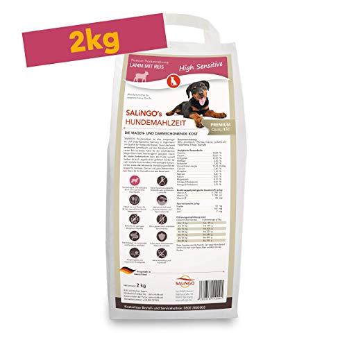 SALiNGO High Sensitive Hundefutter trocken | Trockenfutter Lamm und Reis | zuckerfrei | Single Protein | 2kg