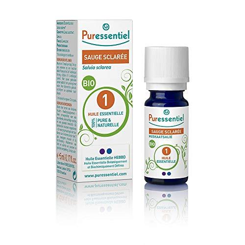 Puressentiel - Huile Essentielle Sauge Sclarée - Bio - 100% pure et naturelle - HEBBD - 5 ml