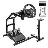 MINNEER Racing Wheel Standホイールスタンド レーシングシミュレータ Logitech G25 G27 G29 G920 T300RS T500RS 立ちスタイル V 1またはV 2対応