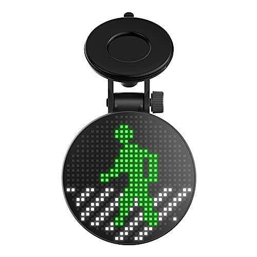 Wireless Car Sign LED Lamp, Funny Car Rear Window Emotion Light, Auto Smart APP Control Bluetooth 5.0, LED Sign Light, Car Accessories