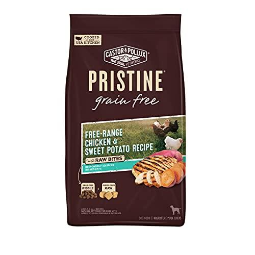 Castor & Pollux Pristine Grain Free Free-Range Chicken & Sweet Potato Recipe with Raw Bites Dry Dog Food, 18 lb, Brown (52017)