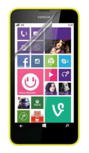 Case it carcasa anti-a los arañazos Protector de pantalla para Nokia Lumia 630/635 - transparente (Triple Pack)
