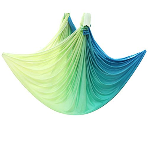 WWL Hamaca aérea de yoga de 5 x 2,8 m, tela sólida, importada, antigravedad, yoga, columpio, inversión aérea, yoga, columpio completo, equipo de ejercicio en el hogar, hamaca voladora y columpio