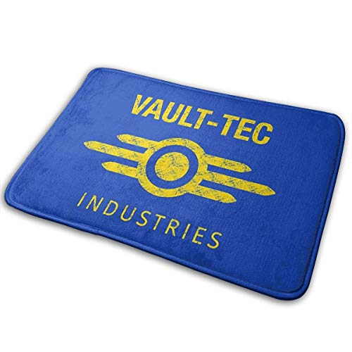 Gorgeous Socks Vault-Tec Industries - Alfombrilla de baño de poliéster para puerta delantera de baño, alfombra para interior y exterior, 15.7 x 23.5in