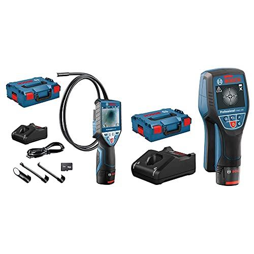 Bosch Professional Sistema 12V Cámara De Inspección Gic 120 C (1 Batería 12V + Cargador+ Sistema 12V Detector De Pared D-Tect 120 (1 Batería 12V + Cargador, Profundidad Máx. 120 Mm, En L-Boxx)