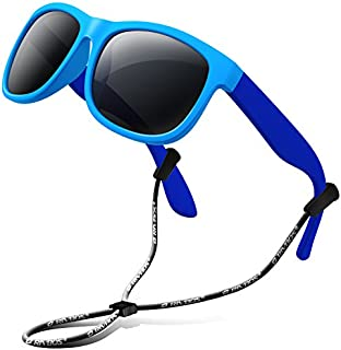 RIVBOS Rubber Kids Polarized Sunglasses With Strap...