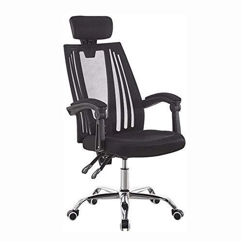 Office Chair, Mid Back Swivel lendensteun bureaustoel, in hoogte verstelbare Computer Ergonomische Mesh Chair met armleuning Black