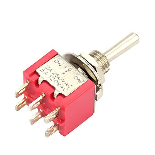 Interruptor de palanca momentáneo de On-On-On Compact, 10pcs 2a / 250vac, 5A / 120VAC MTS-203 Interruptor de palanca momentáneo hecho de plástico, hierro