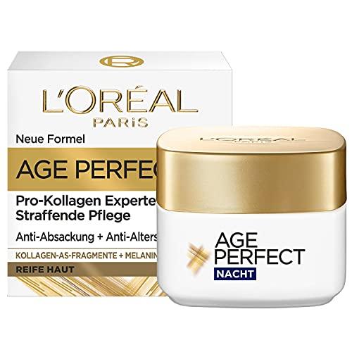 L'Oréal Paris Straffende Nachtpflege für reife Haut, Anti-Aging Feuchtigkeitspflege gegen...